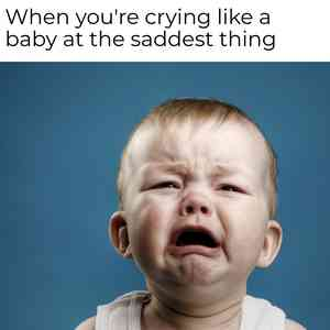 Baby Boy Crying Meme Template