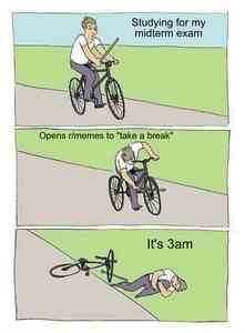 Cyclist With a Stick Falls Off Bike Meme Template