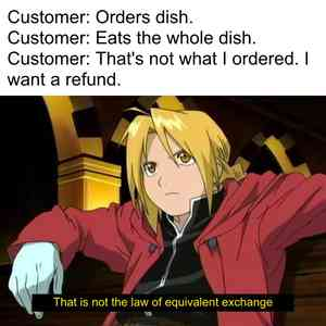 Ed Relaxing This is Not the Law of Equivalent Exchange Meme Template