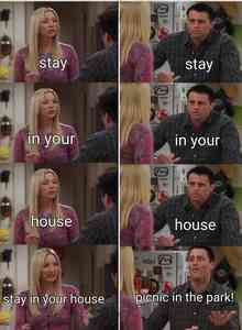 Friends Phoebe and Joey Repeat After Me Meme Template