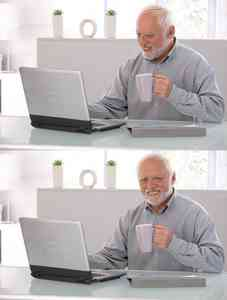 Old Man Cup Of Coffee Meme Template
