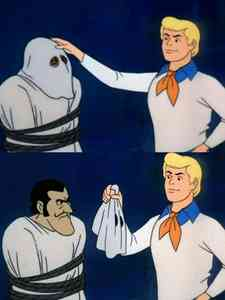 Scooby Doo Mask Reveal Meme Template