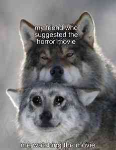 Serious Wolf and Crying Wolf Meme Template