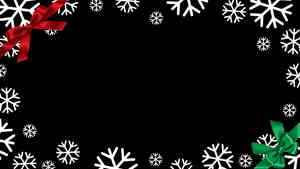 Snowflakes & Bows Christmas Picture Frame
