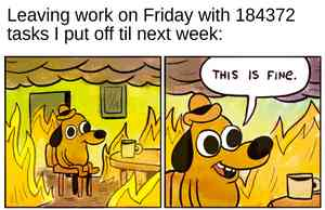 This Is Fine Dog Image Meme Template