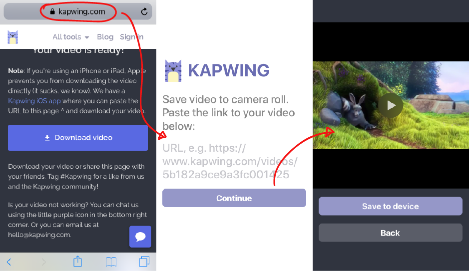How to Download a Kapwing Video onto your iPhone