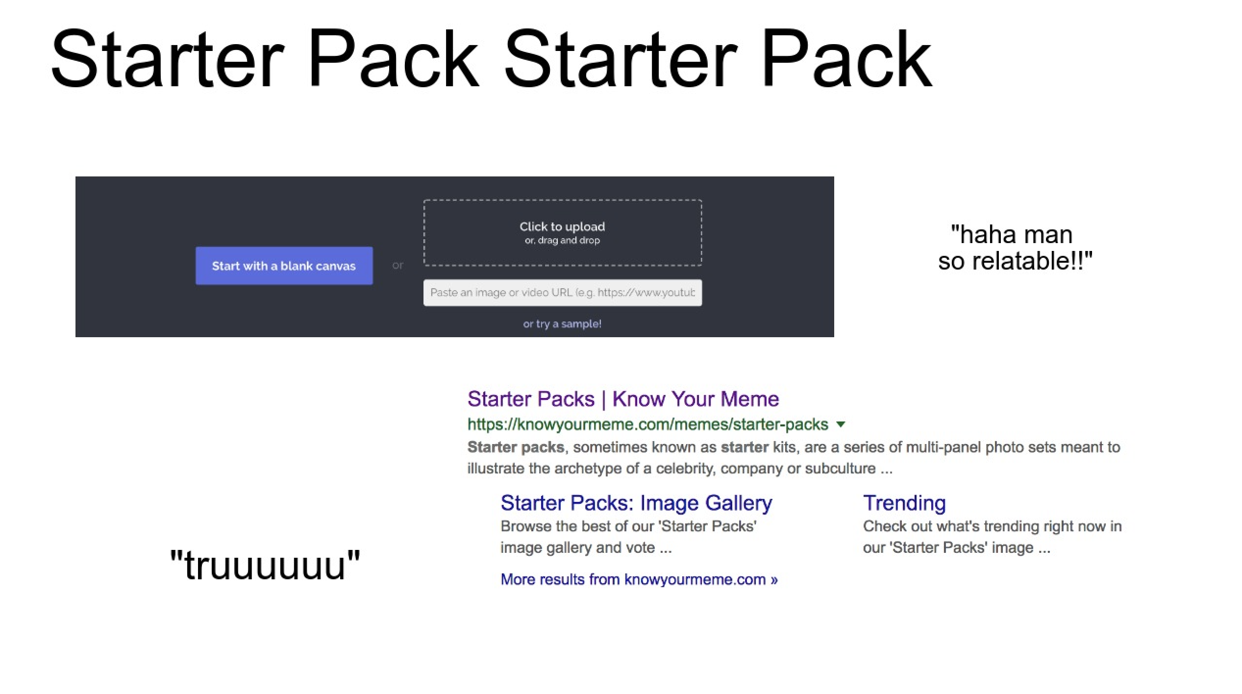 How to Make Your Own Starter Pack Meme