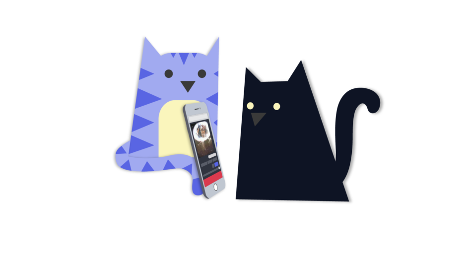 Kapwing Kittens with Phone
