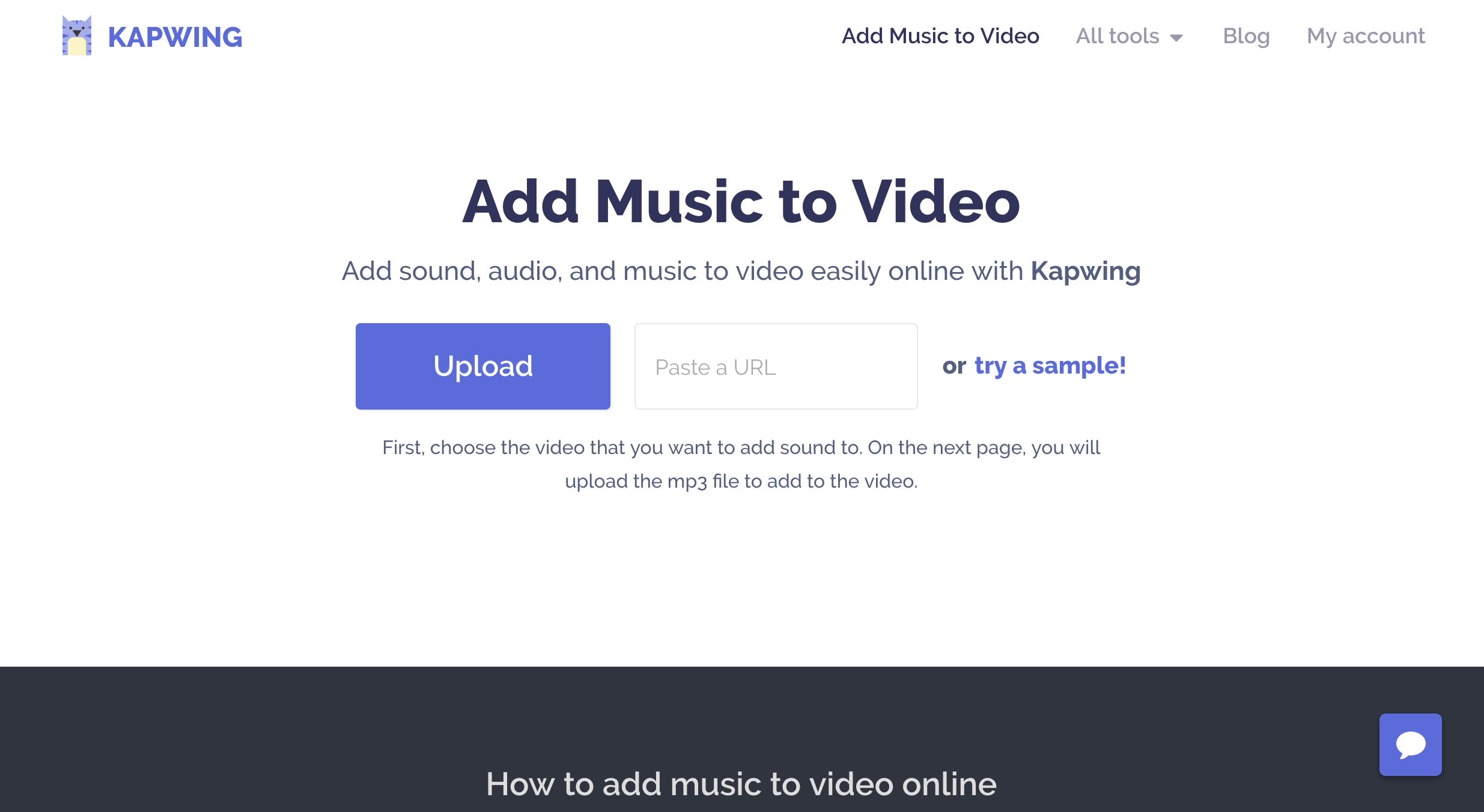 Add Music to video home page