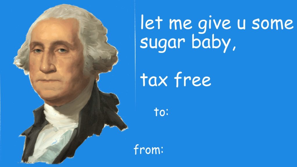 george washington valentines meme