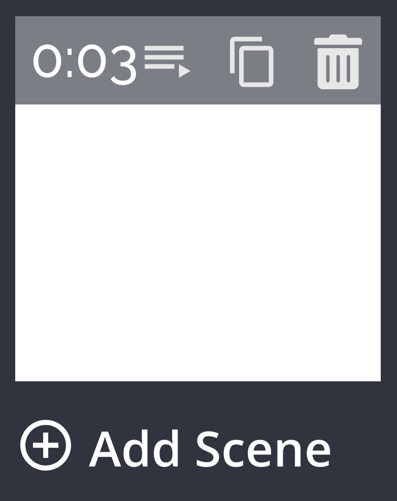 A screenshot showing how to add multiple scenes in the Kapwing Studio.
