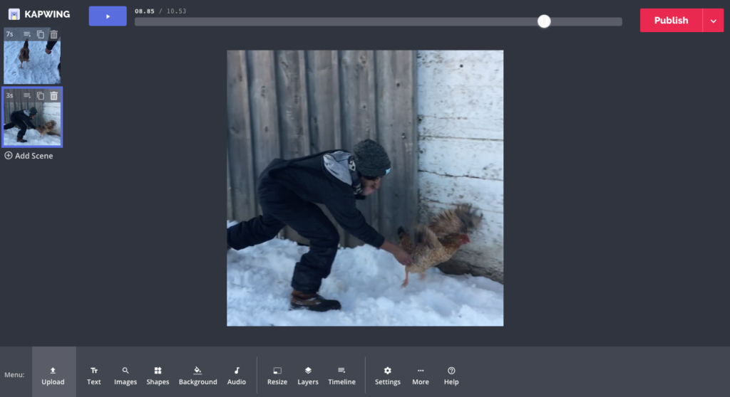 Add a Freeze Frame to your Video for Free Online