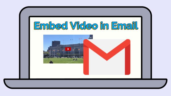 embed youtube video in email