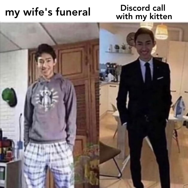 My Wife's Funeral Meme Template